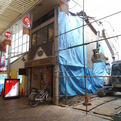 鉄骨解体 十三東商店街 (2)