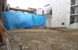 ゲームセンター及び店舗解体後の整地跡